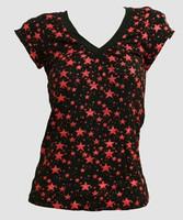 Stars black-red fashion t-shirt