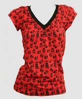 Skull big red fashion t-shirt