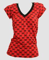 Cute skull red fashion t-shirt