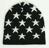 M Stars Black-White Stars Beanie
