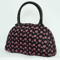 Lips pink medium bowling bag