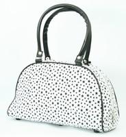 Stars white medium bowling bag