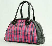 Scotch pink medium bowling bag