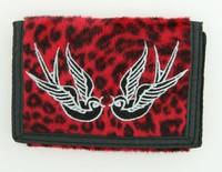 Leopard red swallow wallet standard wallet
