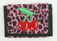Leopard pink cherry wallet standard wallet