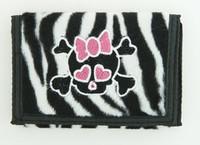 Zebra white cute skull wallet standard wallet