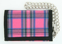 Scotch pink mixed with chain wallet