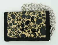 Skulls gold mixed with chain wallet
