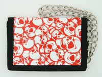 Skulls red mixed with chain wallet