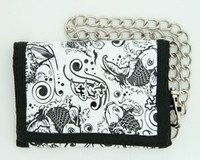 Carper white mixed with chain wallet