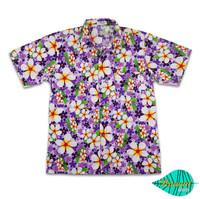 Foam purple hawaii shirt