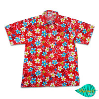 Mixed flower red hawaii shirt