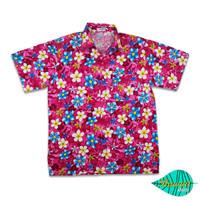 Mixed fLower pink hawaii shirt