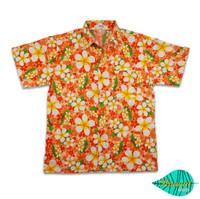 Foam orange hawaii shirt