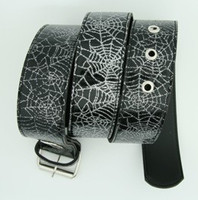 Spider black animal belt
