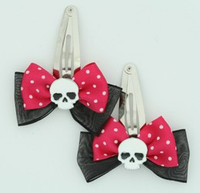 Pink / skull plain white black-dark pink skull