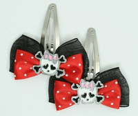 Black-red / cute Sk bone Wh-pink red skull