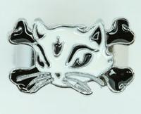 Cat bone white-black animal ring