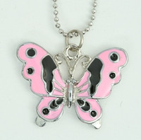 Butterfly pink animal necklace