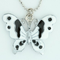 Butterfly white animal necklace
