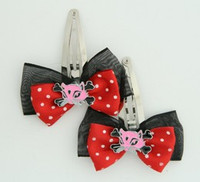 Black-red / cat bone pink-black red animal