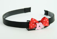 Black-red / cat pink red bow & animal