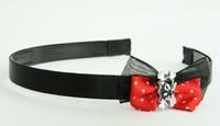Black-Red / cat bone black-white red bow & animal