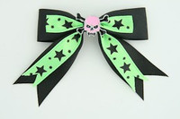 Bl-green / skull tooth pink black-green skull