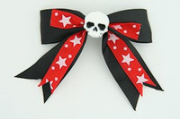 S Bl-red / skull plain white black-red skull