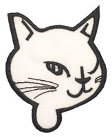 L cat head white-black animal extra big