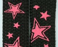 Star line black-pink star shoelace