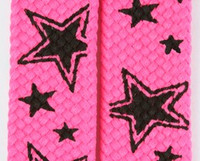 Star line pink star shoelace