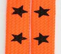Star big orange star shoelace