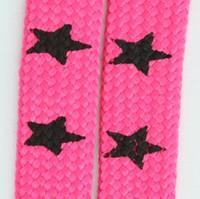 Star big pink star shoelace