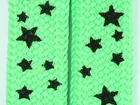 Star S green-black star shoelace
