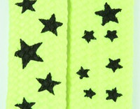 Star S yellow-black star shoelace