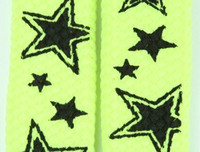 Star line yellow star shoelace