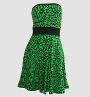 Front - DB leopard green strapless pin up
