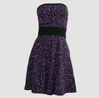 Front - DB leopard purple strapless pin up