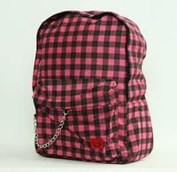 Check pink C check rucksack