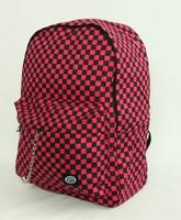 Check M pink check rucksack