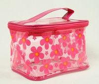 Flower D-pink toiletry bag