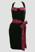 Front - DT leopard pink belt pin up