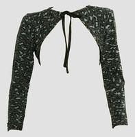 Front - SL leopard grey top sleeve tops