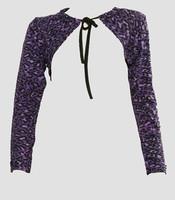 Front - SL leopard purple top sleeve tops