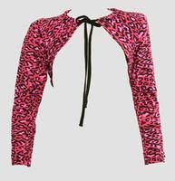 Front - SL leopard pink top sleeve tops