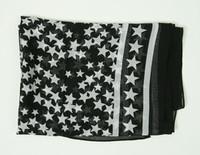 T stars black-white scarf accessory