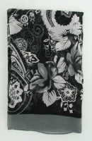 T punk flower grey scarf accessory