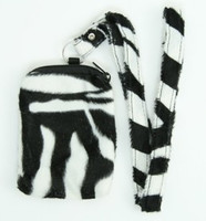 F zebra white mobile bag