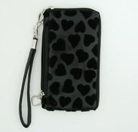 Heart black mobile bag